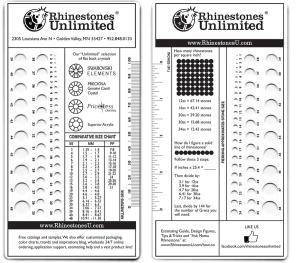 Rhinestones 101- Brush Up On Your Basics: Size