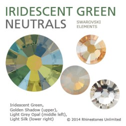 Swarovski Iridescent Green neutral color theme from Rhinestones Unlimi