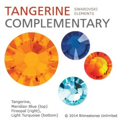 Swarovski Tangerine complementary color theme from Rhinestones Unlimited