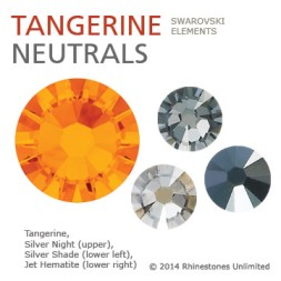 Swarovski Tangerine neutral color theme from Rhinestones Unlimited