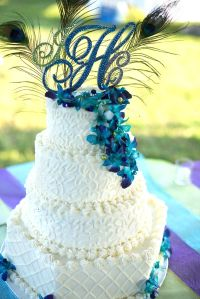 Cake- Crystal wedding cake topper