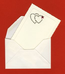XXL envelope with card and a love theme