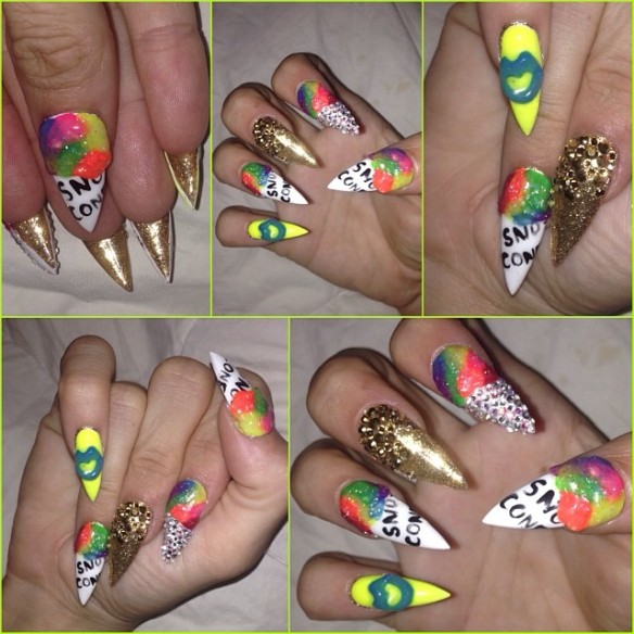Melia snow cone nails
