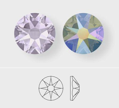 Swarovski Smoky Mauve and Crystal Paradise Shine shown in #2088 Xirius Rose cut